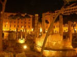 Lighting at Rome ruins