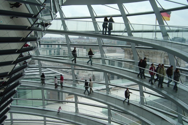 Inside Reichstag Dome